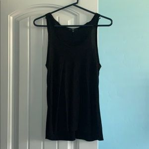 Gap drapey racerback tank top black XS